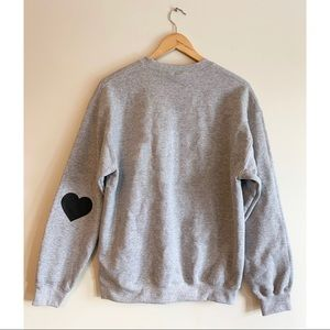 🖤 Sports Grey Crewneck Sweater with White Heart